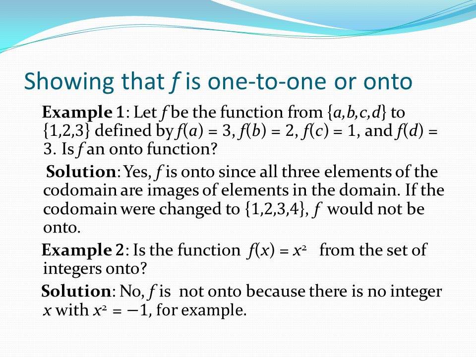 Inverse Functions Definition: Let f be a bijection from A to B.