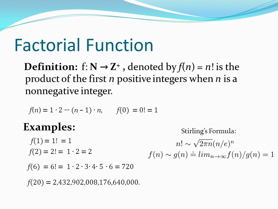 Partial Functions (optional) Definition: A partial function f from a set A to a set B is an assignment to each element a in a subset of A, called the domain of definition of f, of a unique element b in B.