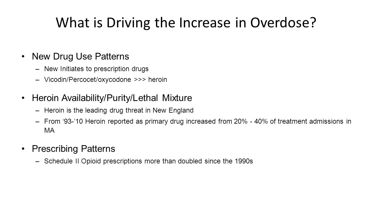 What is Driving the Increase in Overdose.