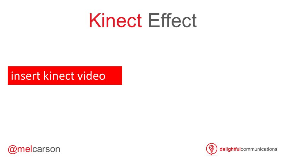 Kinect Effect insert kinect video VT1 – 1m 16s
