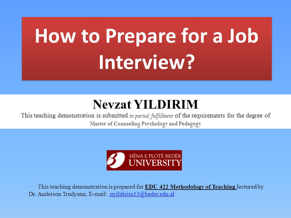 How to Prepare for a Job Interview.