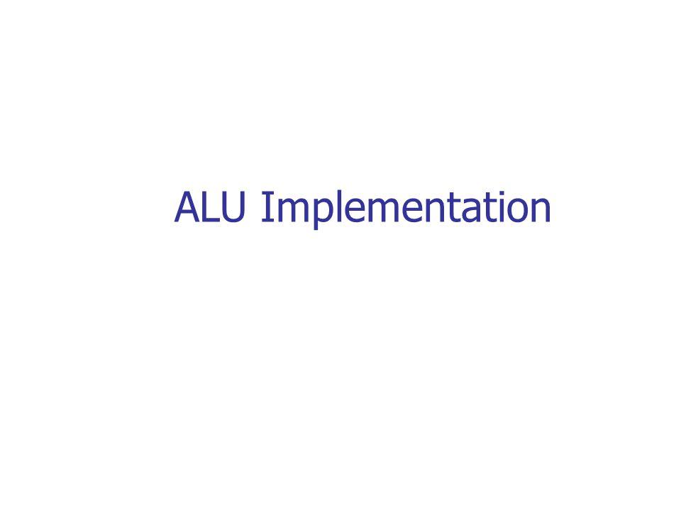 ALU Implementation