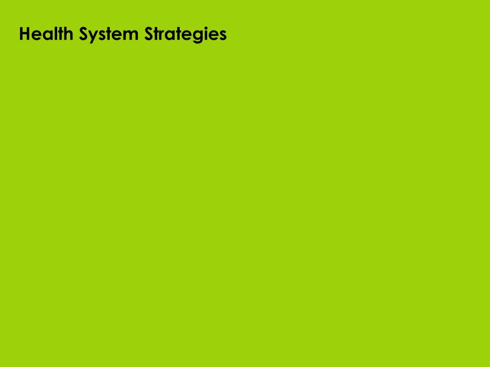 Health System Strategies