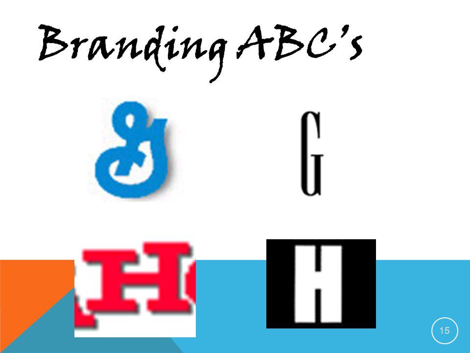 14 Branding ABC's