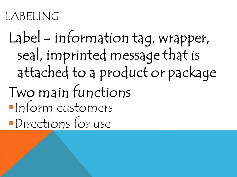 FUNCTIONS OF PACKAGING SellProduct ID InfoMeet custome r Needs Protect Cust.