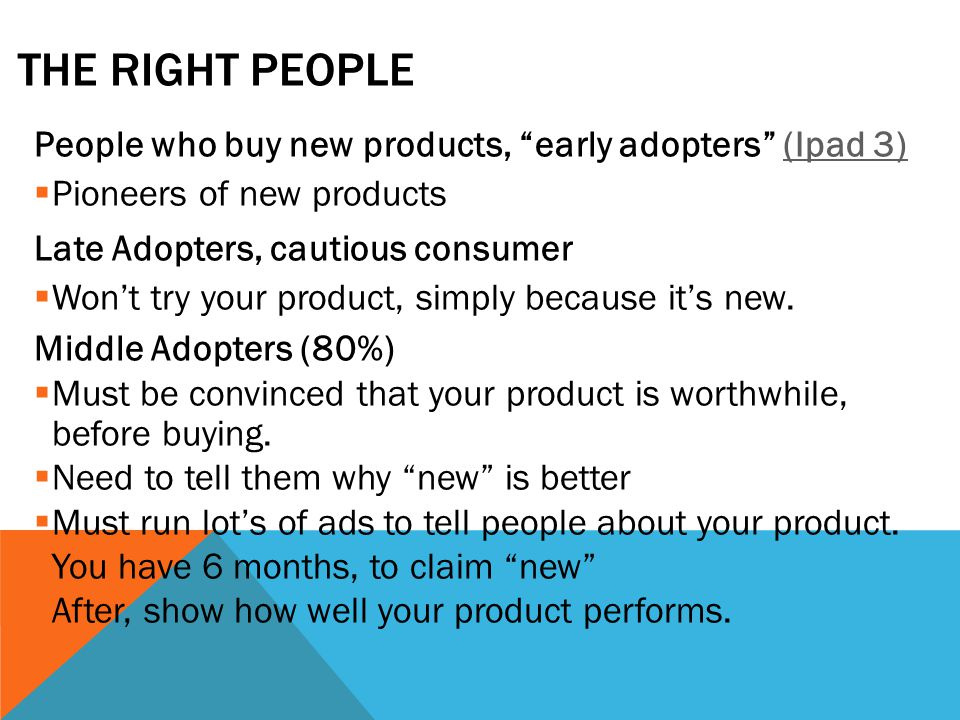 UNIQUE CHARACTERISTICS Goal is to set products apart from competition.