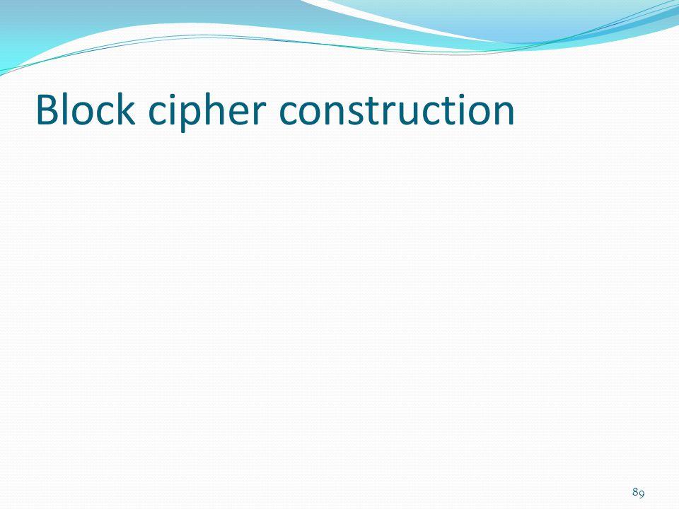 Block cipher construction 89
