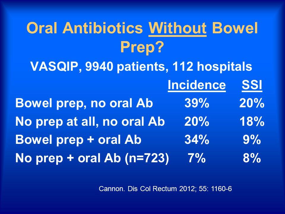 Oral Antibiotics Without Bowel Prep.