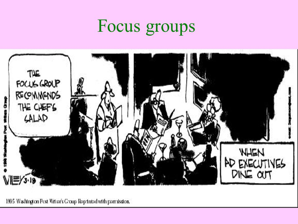 Focus groups