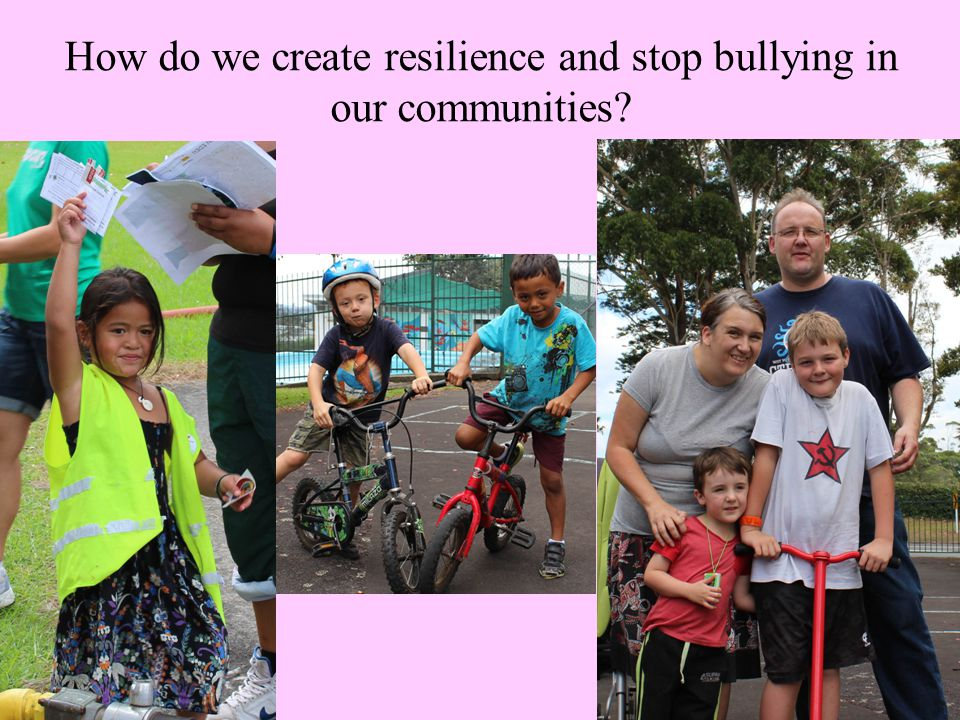 How do we create resilience and stop bullying in our communities