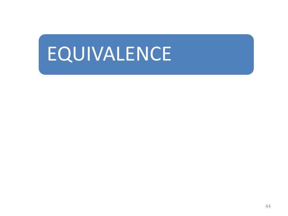 EQUIVALENCE 44