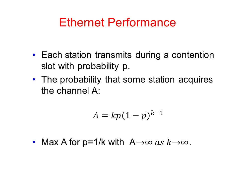 Ethernet Performance