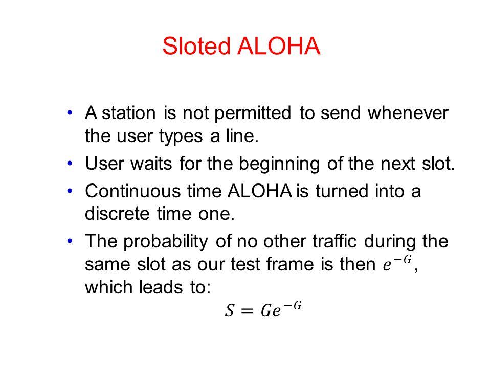 Sloted ALOHA