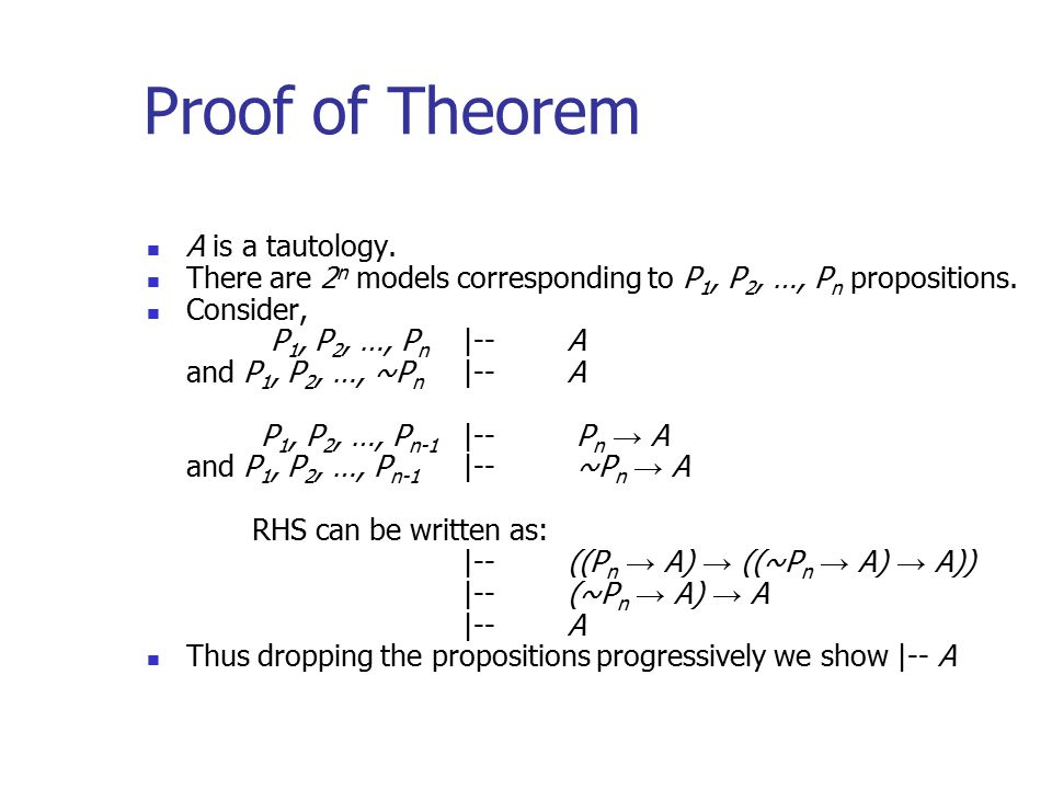 Proof of Theorem A is a tautology.