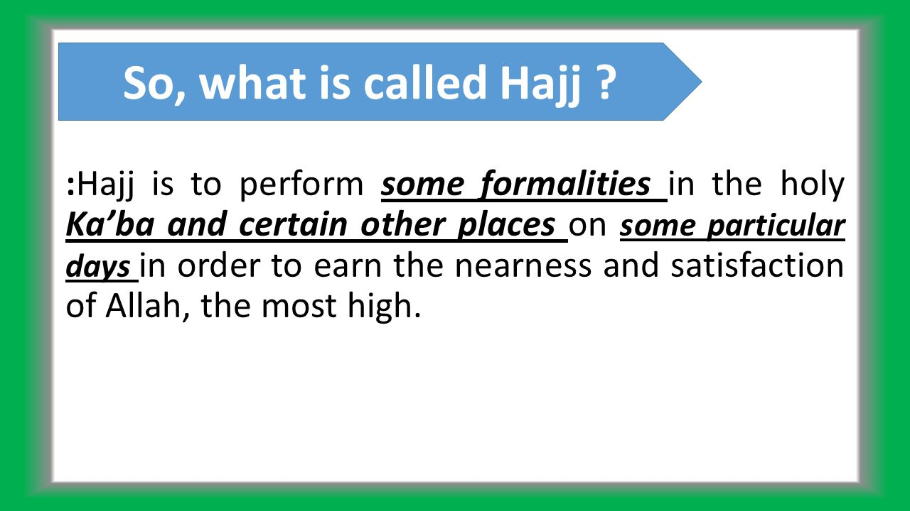 Hajj is obligatory for those able persons, both physical and economic who after meeting all family expenditure can bear the additional expenses up to visit the holy Ka'ba and return home.