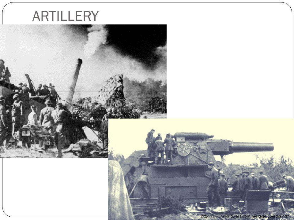 ARTILLERY http://www.worldwar1.com/heritage/bbertha.htm