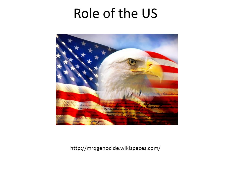 Role of the US http://mrqgenocide.wikispaces.com/
