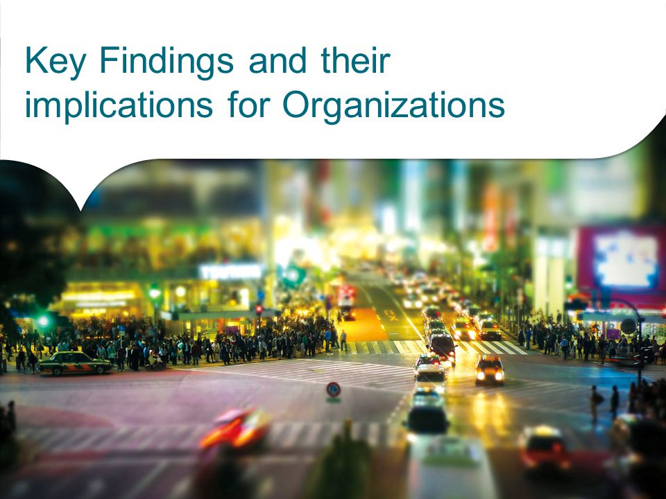 Key Findings and their implications for Organizations