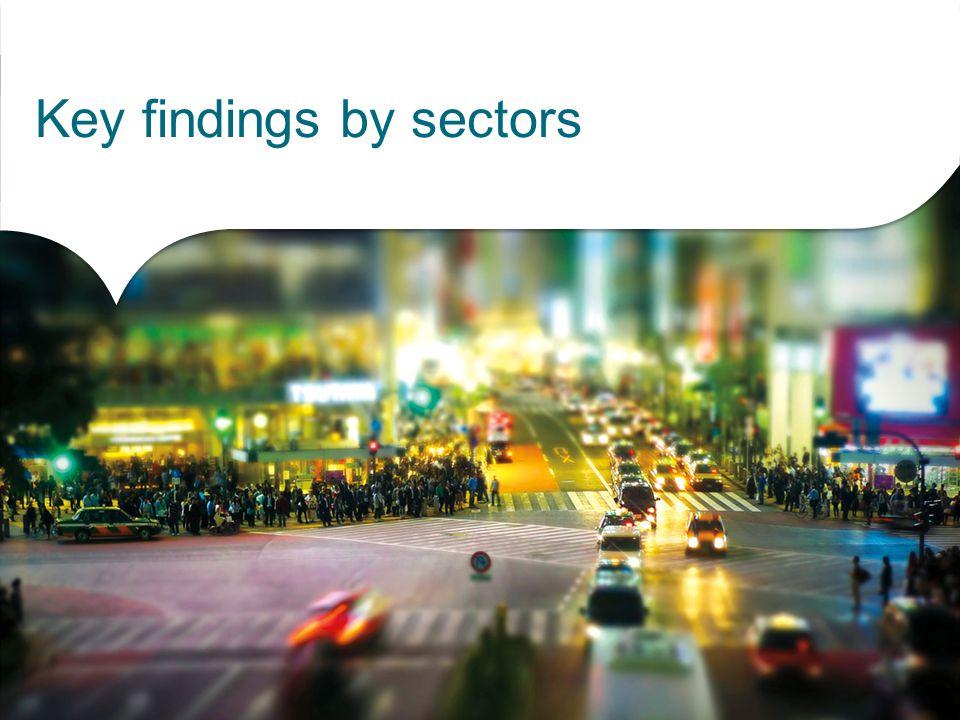 Key findings by sectors