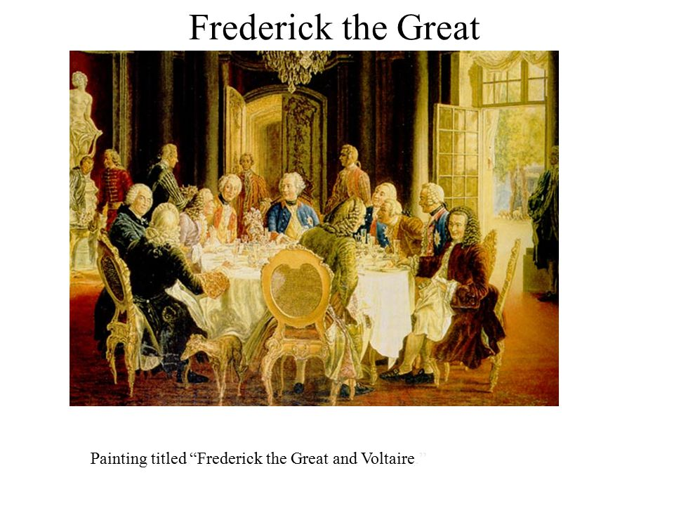 Frederick the Great Painting titled Frederick the Great and Voltaire.