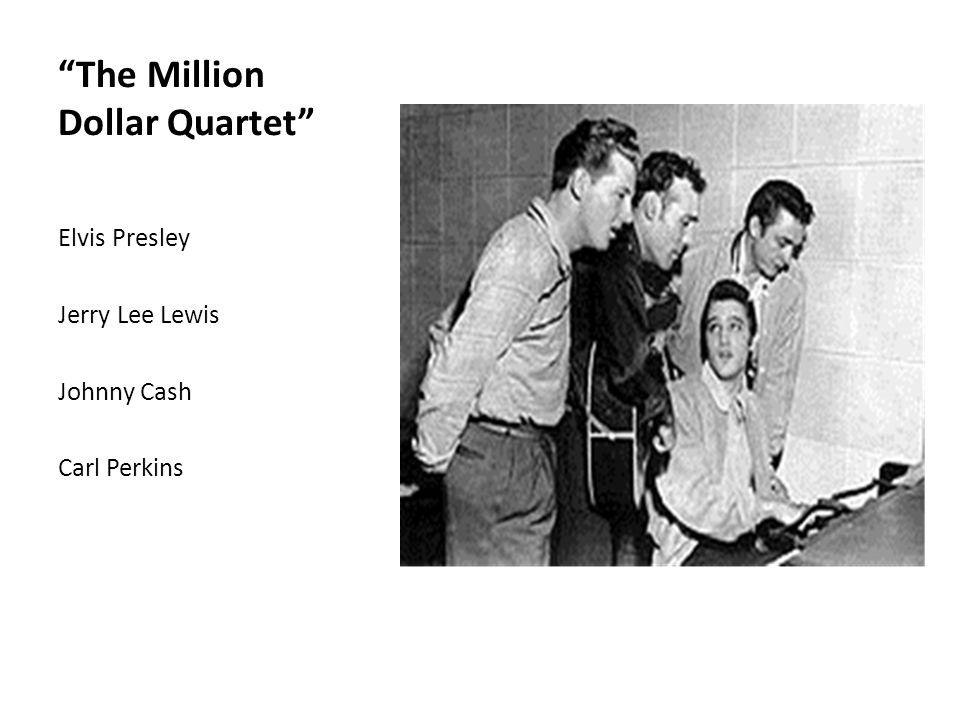 """The Million Dollar Quartet"" Elvis Presley Jerry Lee Lewis Johnny Cash Carl Perkins"