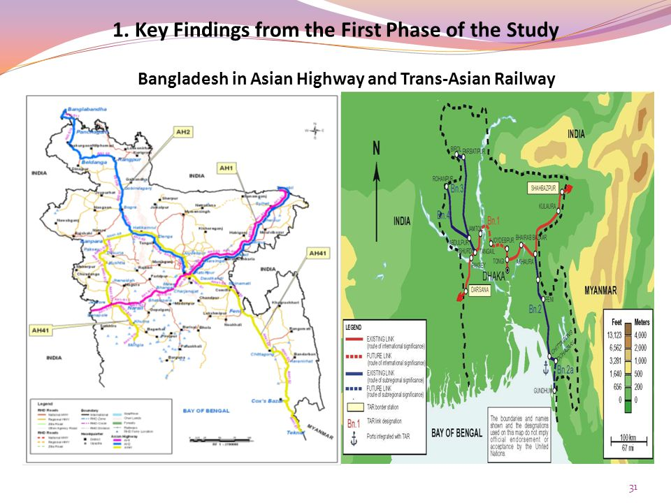 Bangladesh in Asian Highway and Trans-Asian Railway 31 1.