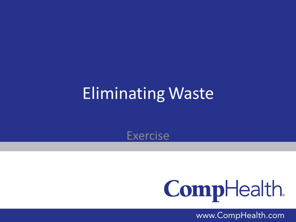 Eliminating Waste Exercise