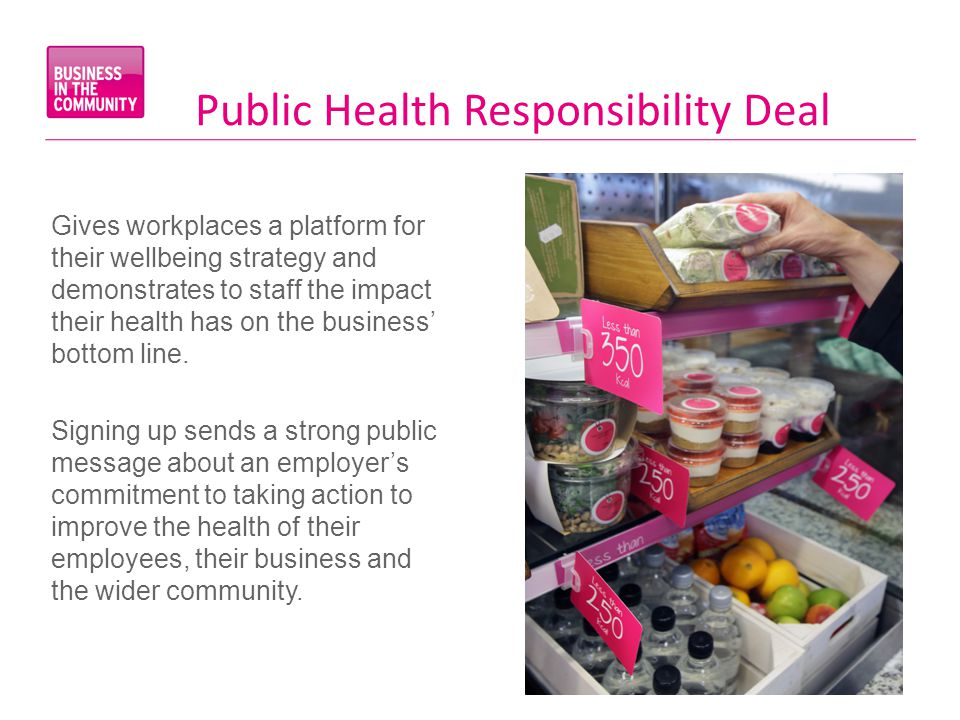 Gives workplaces a platform for their wellbeing strategy and demonstrates to staff the impact their health has on the business' bottom line.