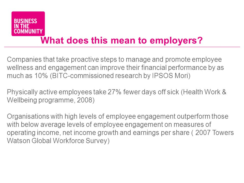 What does this mean to employers.