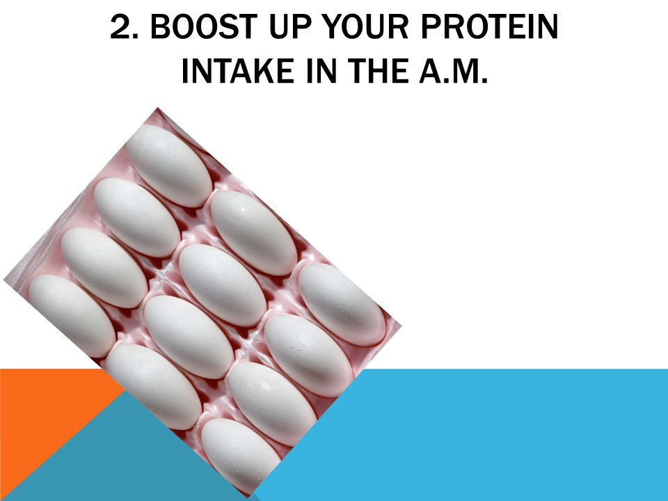 2. BOOST UP YOUR PROTEIN INTAKE IN THE A.M.