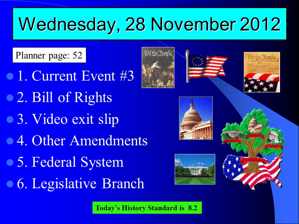 Wednesday, 28 November 2012 1. Current Event #3 2.