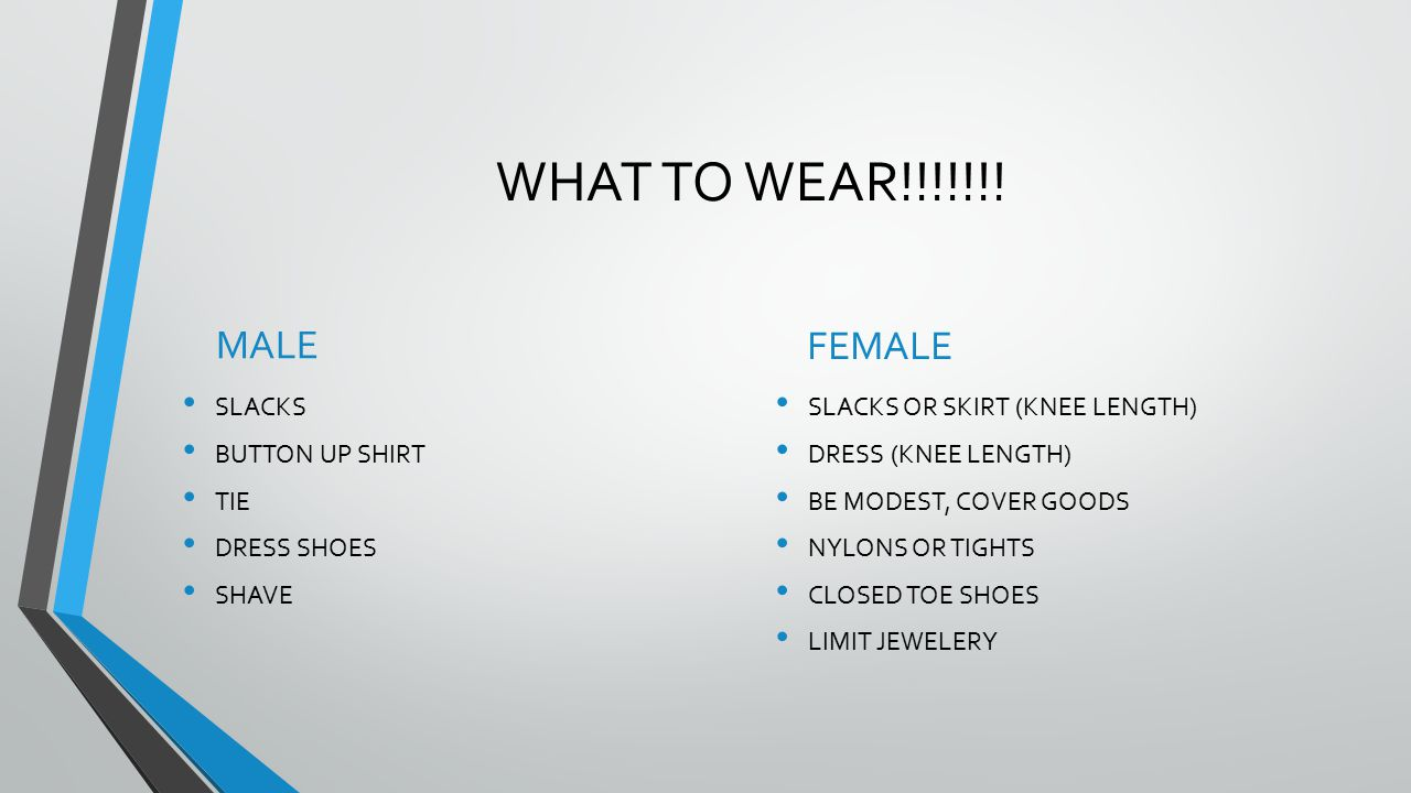 WHAT TO WEAR!!!!!!.