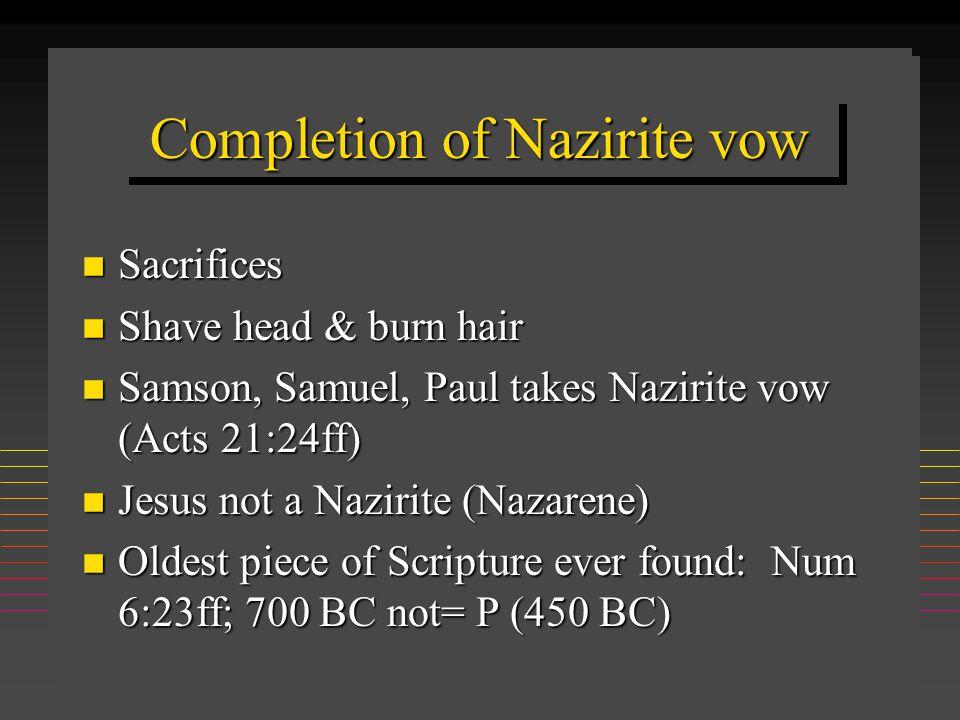 Numbers Cycles n Problem n Peoples' complaint n God's response n Moses mediates n God relents n Lesson summarized