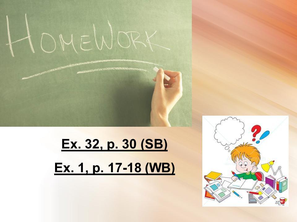 Ex. 32, p. 30 (SB) Ex. 1, p. 17-18 (WB)