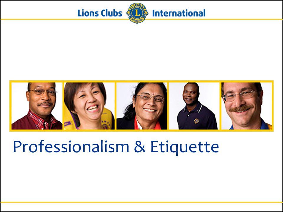 Professionalism & Etiquette
