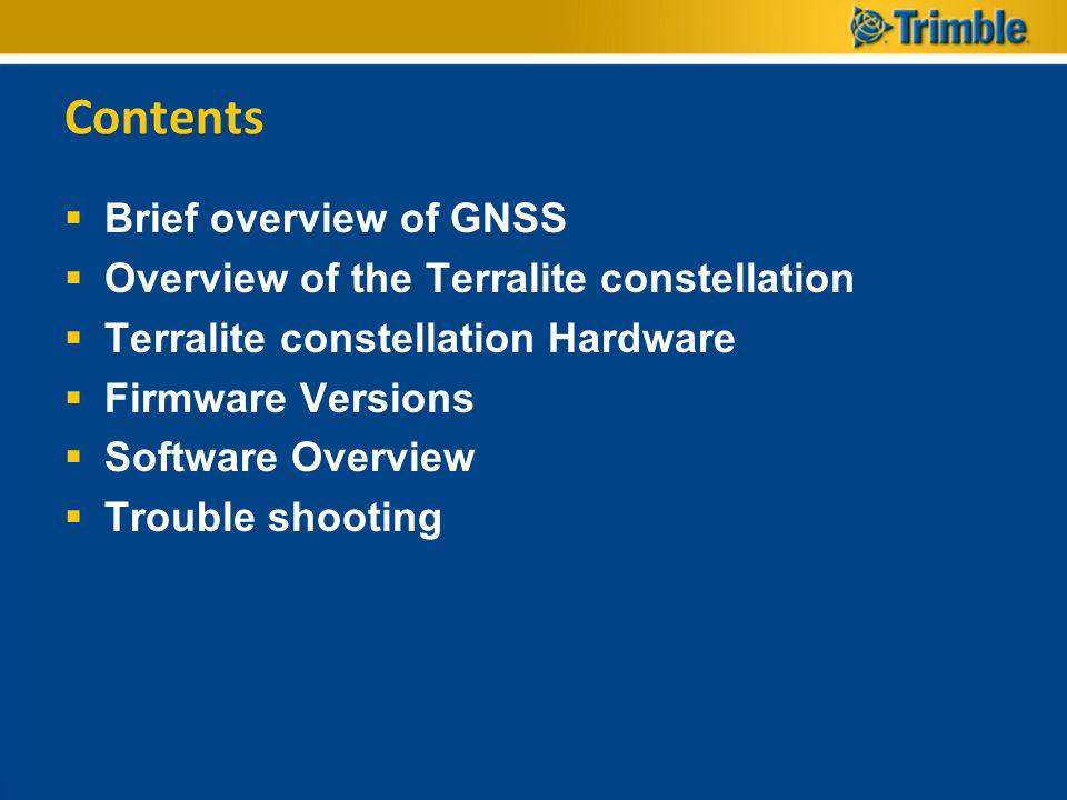 Insufficient Signals  To few Terralites To few Satellites if not Using Terralites