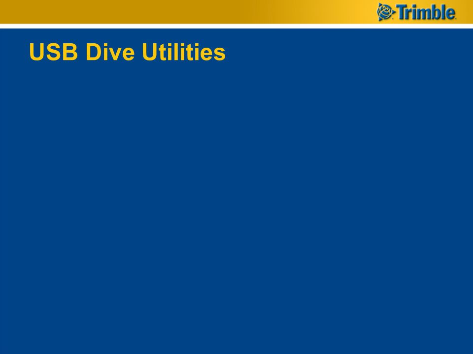 USB Dive Utilities