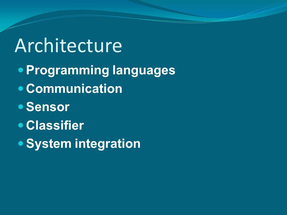 Architecture Programming languages Communication Sensor Classifier System integration