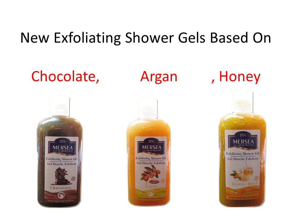 New Exfoliating Shower Gels Based On Chocolate, Argan, Honey