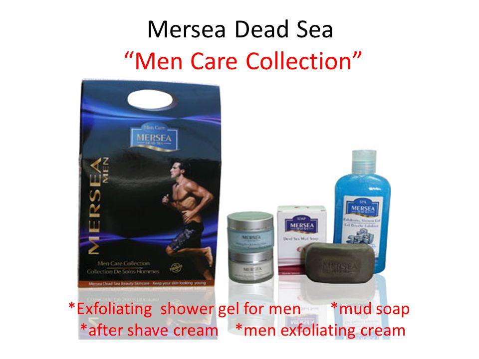 Mersea Dead Sea Men Care Collection *Exfoliating shower gel for men *mud soap *after shave cream *men exfoliating cream