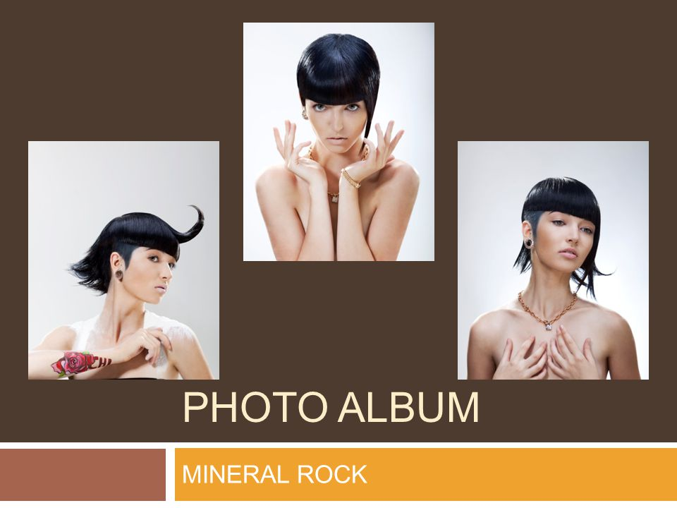 PHOTO ALBUM MINERAL ROCK