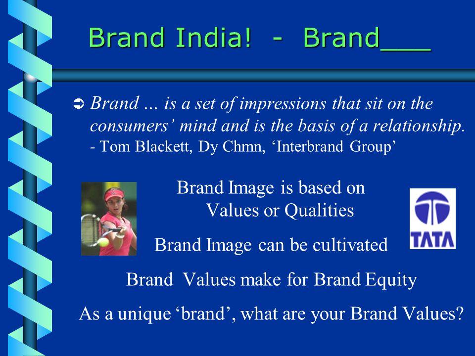 Brand India.