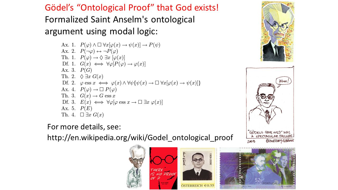 Gödel's Ontological Proof that God exists.
