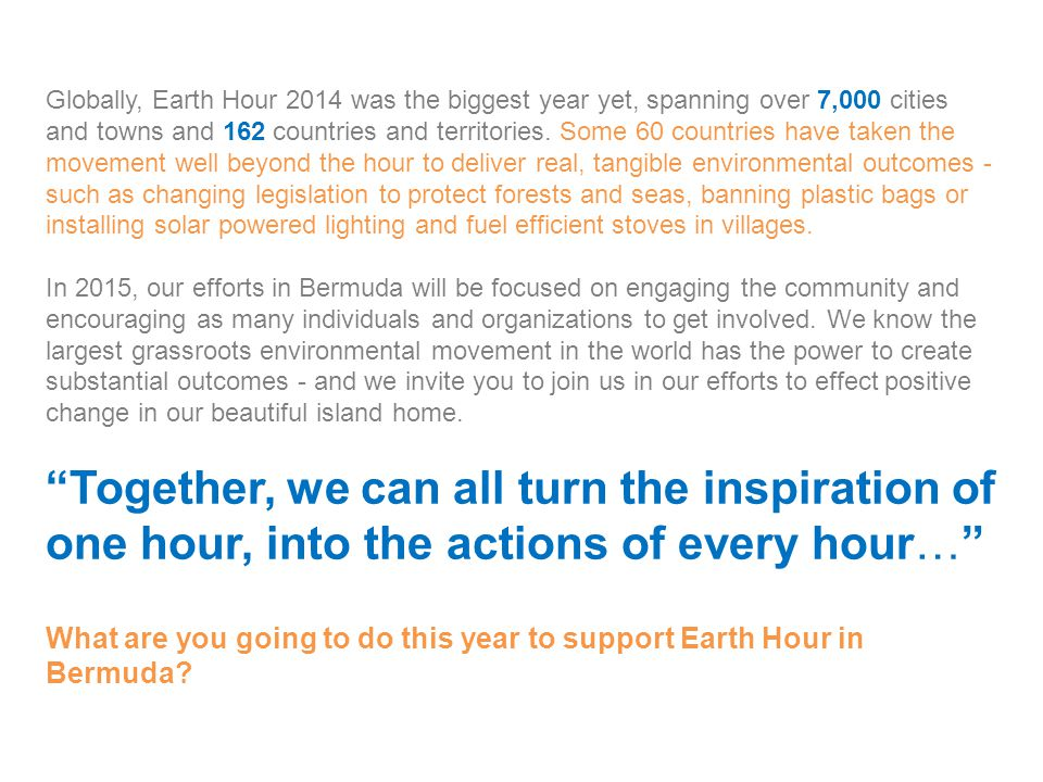 Sponsor Benefits Earth Hour Host The Host will have their logo displayed on all official documents and press releases.