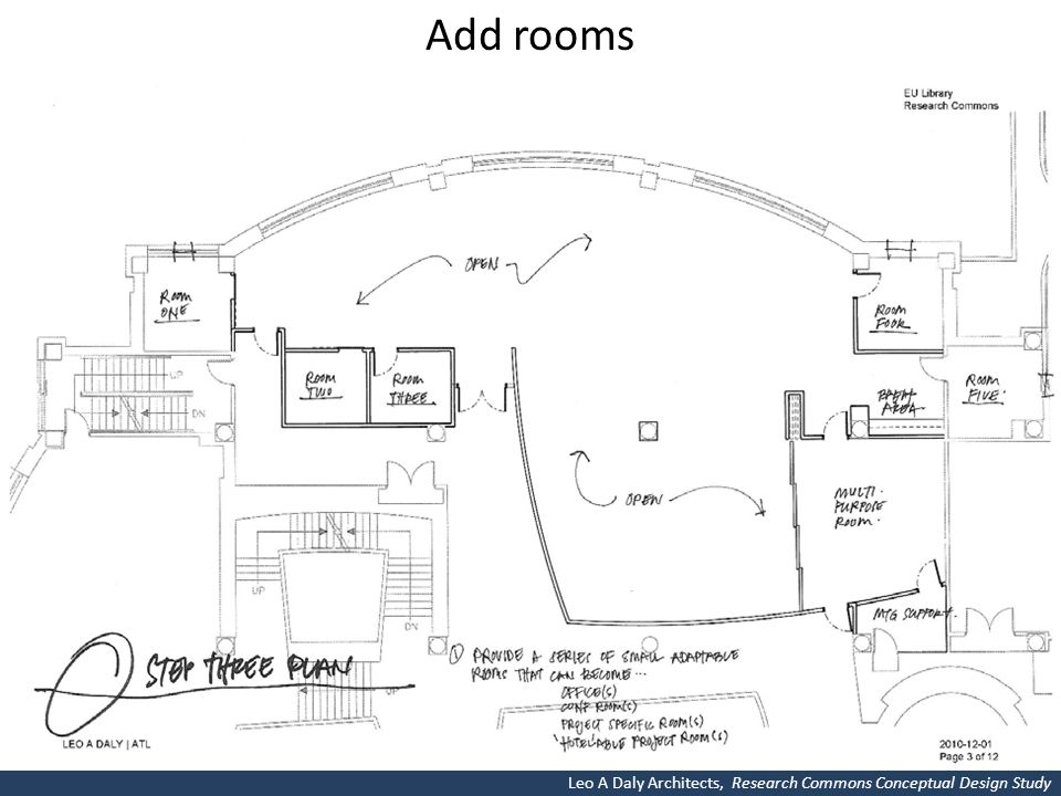 Add rooms Leo A Daly Architects, Research Commons Conceptual Design Study