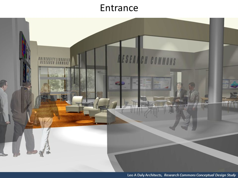 Entrance Leo A Daly Architects, Research Commons Conceptual Design Study