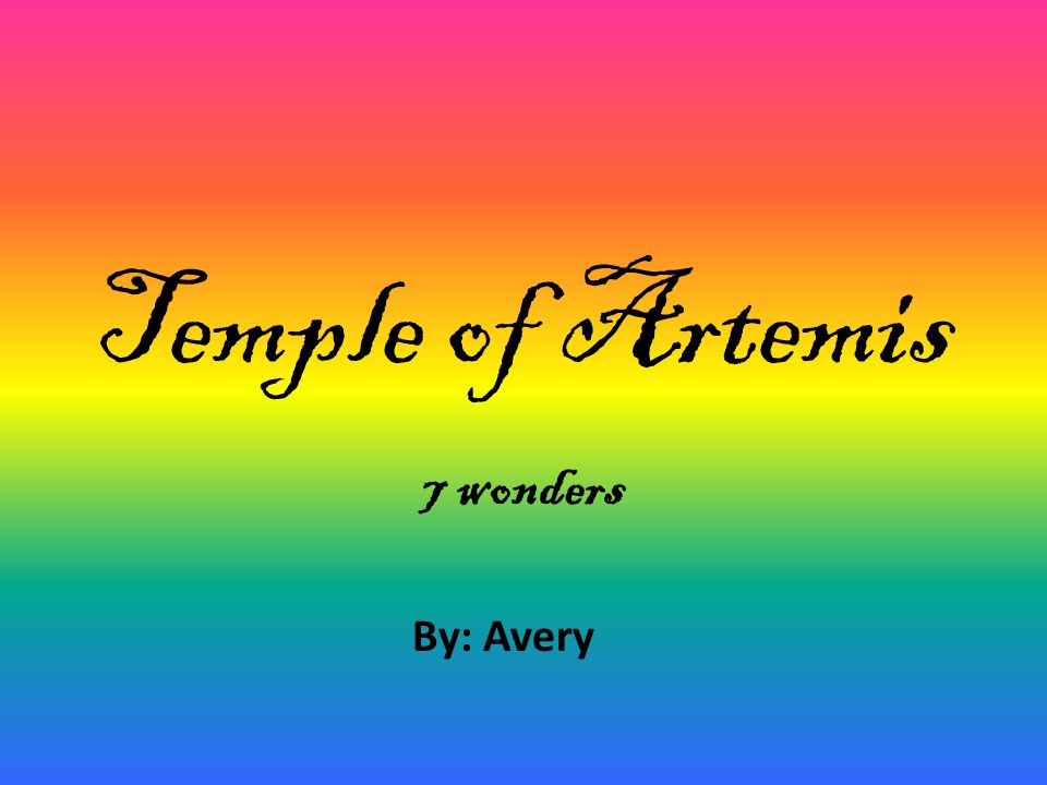 This slideshow is about the temple of Artemis