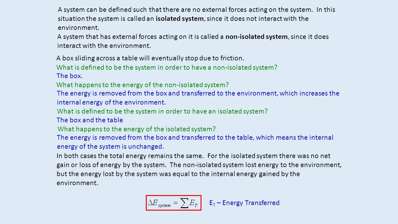 A system can be defined such that there are no external forces acting on the system.