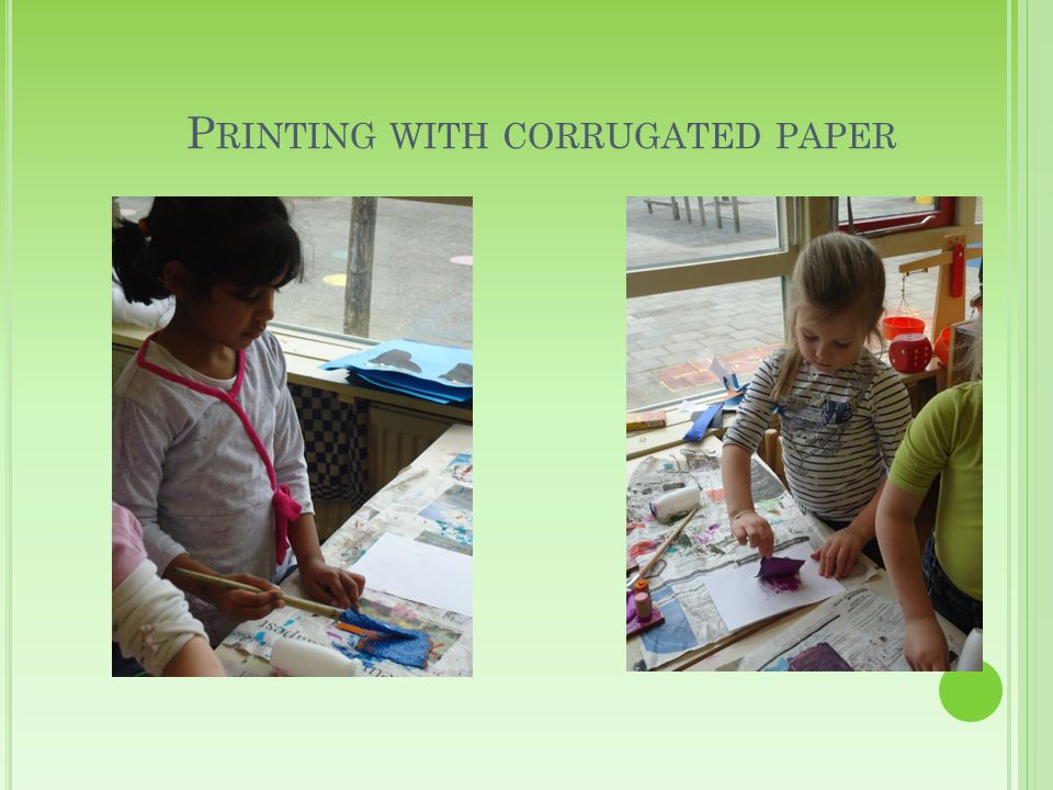 P RINTING WITH CORRUGATED PAPER
