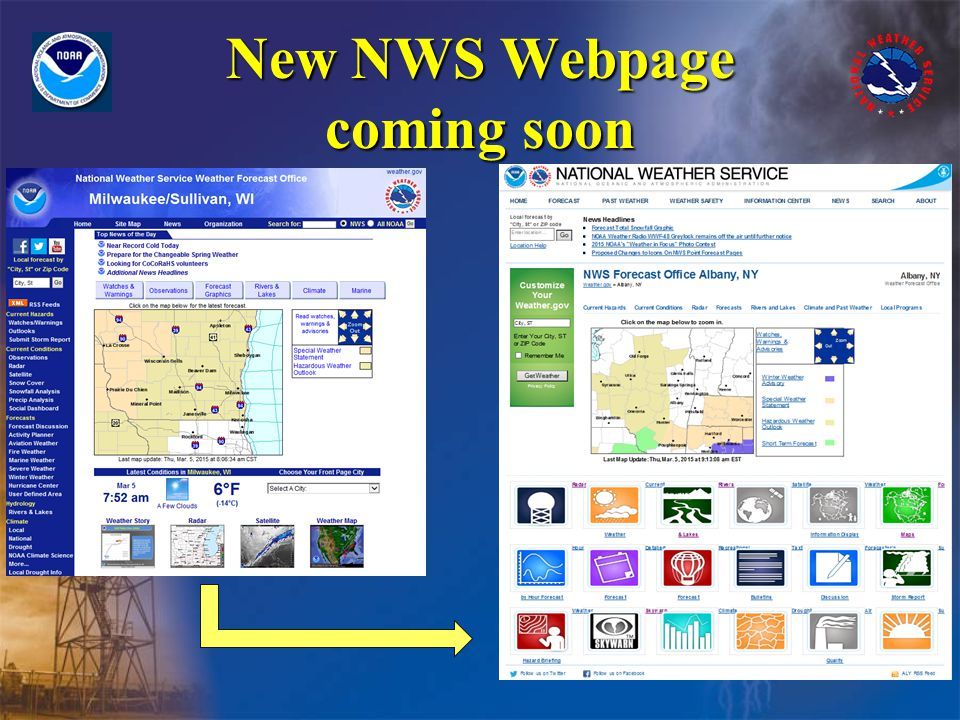 New NWS Webpage coming soon